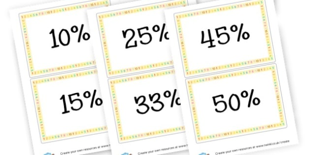 Percentage Cards