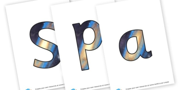 space - display lettering - Space Display Primary Resources, Space, planets, Sun, moon, star