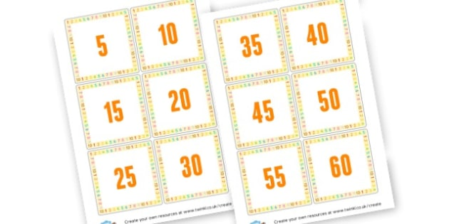 5 x tables to 60 - Times Tables Primary Resources, multiply, times, number of, games, Times, Table, Tabe