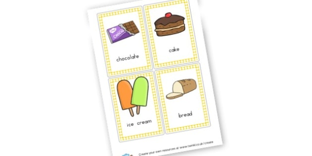 Food Cards - Food & Eating Out Role Play Primary Resources, cafe, ice cream