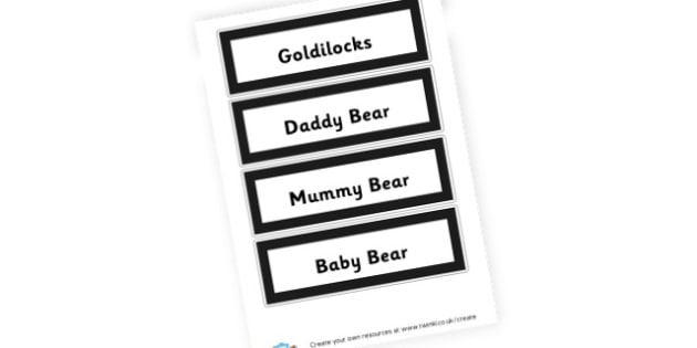 Goldilocks Word Cards - Goldilocks and the Three Bears Literacy Primary Resources -  Prim