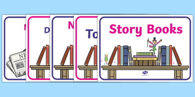 book corner - display lettering - Reading Area Primary Resources, signs, area, zones, banner, poster