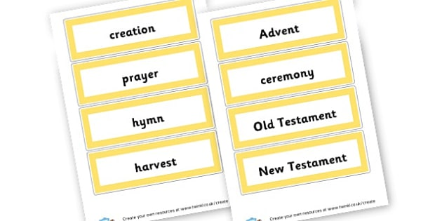 Christianity Vocab Cards - Christianity, Literacy,  Primary Resources, religion, faith, chri