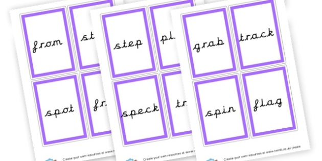 Phase 4 Word Cards - Phase 4 Visual Aids Primary Resources, Phase One, Letters, sounds