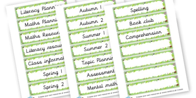 File Labels - Classroom Signs & Label Primary Resources, labels, posters, rules