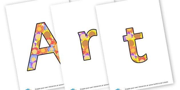 Arts Week - display lettering - Organised Events & Awareness Days/Weeks Children's Art Week Primar