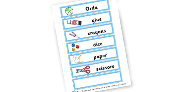 Labels for Classroom Shelves - Resource Labels Primary Resources, resource, label, drawer labels