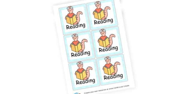 Reading Cards - Reading Area Primary Resources, signs, area, zones, banner, poster