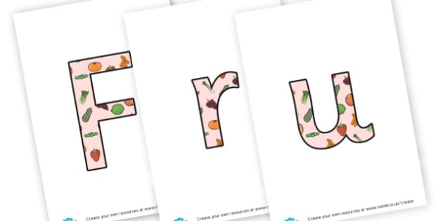 Fruit Faces display lettering - Fruit and Vegetables Display Primary Resources -  Primary Resourc