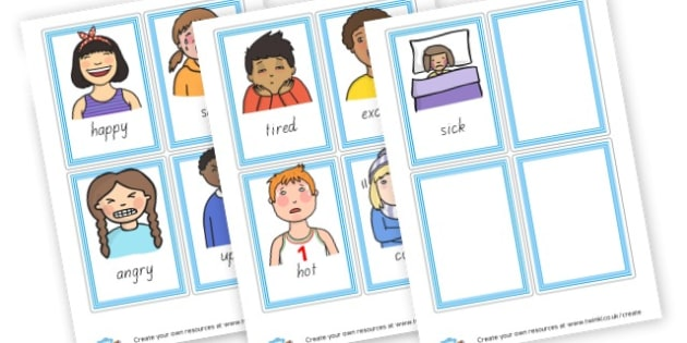simple emotion cards - EAL Emotions Primary Resources - EAl, emotions, feelings