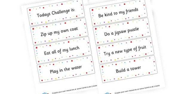 SEN Challenge Cards - Additional Needs (SEN) & PSHE Primary Resources, EAL, PSHE, autism