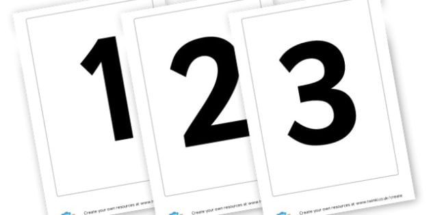 Numbers - display lettering - Display Numbers Primary Resources, cut out, numbers, display