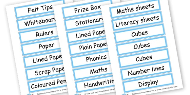 Classroom labels - Resource Labels Primary Resources, resource, label, drawer labels