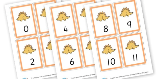 Number Cards 1-20 (Orange) - Maths Primary Resources, maths games, numbers, counting, money, NUMRCEY