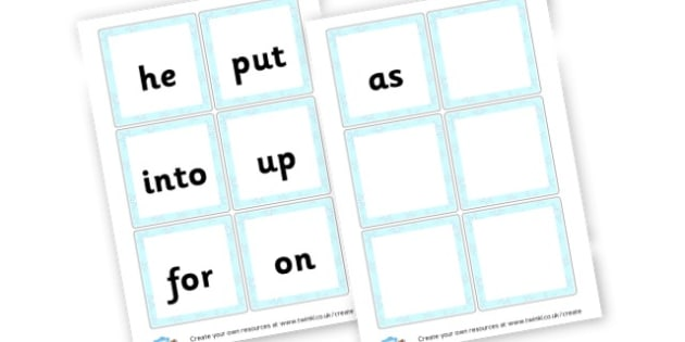 HFW - High Frequency Words Visual Aids Primary Resources, letters, frquency