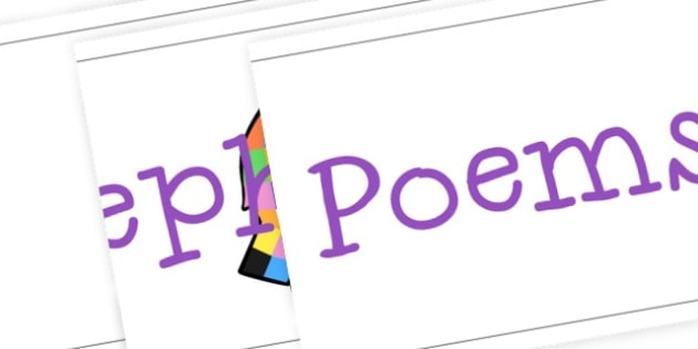 Elephant Poems Banner to Support Teaching on Elmer - Elmer, Display,  Primary Resources, Story sack, Elmer, elephant,