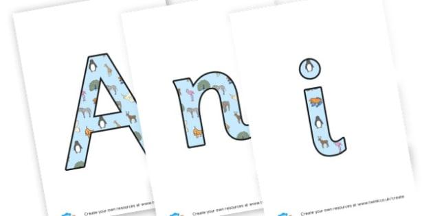 animals around the world banner - display lettering - Animals Display Primary Resources,  Display, Posters,   Animals