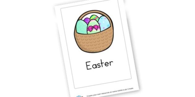 Easter Cover Sheet - Easter Writing Frames Primary Resources, easter, writing frames