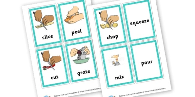 Food Processing skills - Cooking Primary Resources - baking, food, cookery, healthy eating