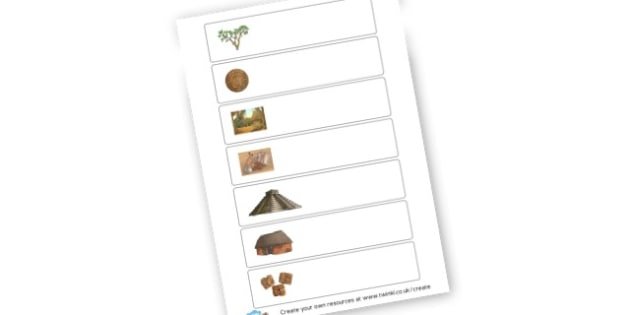 Maya Timeline Images Only - KS2 Myths and Legends Mayan Civilization Creation Story Primary Resou