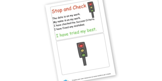Stop and Check work checklist - display lettering - General Literacy Primary Resources, Literacy, English, Display, EY
