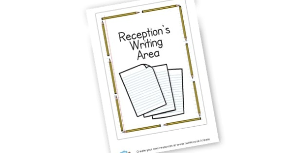 receptions writing area - display lettering - Writing Area Primary Resources, signs, area, zones, banner, poster