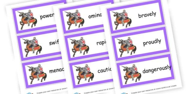 Adverbs Flashcards - KS2 Verbs and Adverbs Primary Resources, Verbs, Adverbs, KS2 Words
