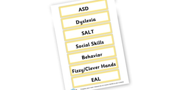 Inclusions rooms labels - Classroom Signs & Label Primary Resources, labels, posters, rules