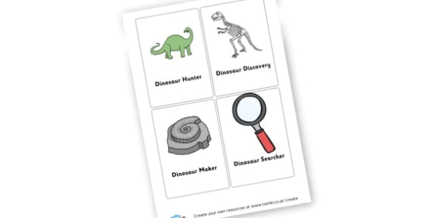 Dinosaur Themed Role Play Badges - Dinosaurs Roleplay Primary Resources, t-rex, dress up, mask,