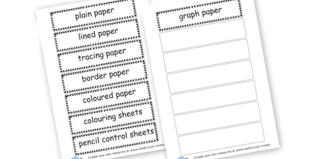 Paper Tray Labels - display lettering - Classroom Signs & Label Primary Resources, labels, posters, rules