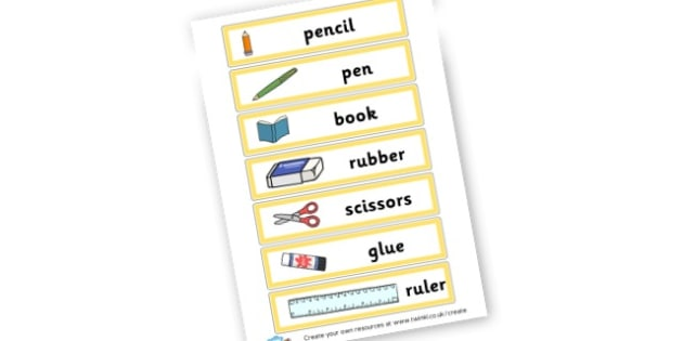 Classroom Objects - Classroom Signs & Label Primary Resources, labels, posters, rules
