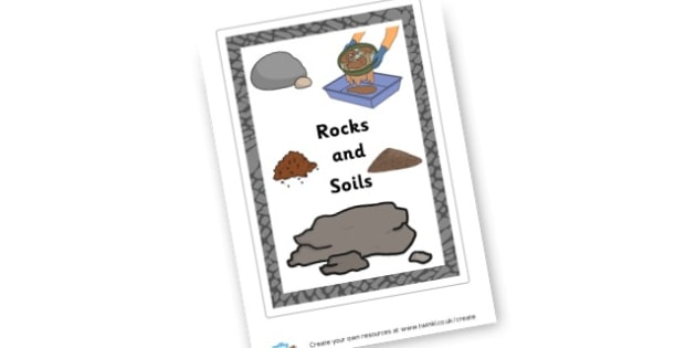 Rocks and Soils Title Page - Rocks, Earth & Soil Primary Resources, rock, mountain, volcano