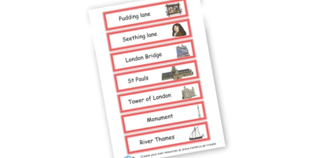 Great Fire of London walk - The Great Fire of London Primary Resources, Fire of London, Plague, Great, Grat, Fire