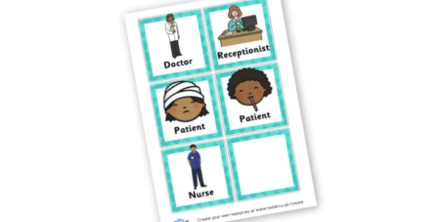 Doctor role play - Hospital Role Play Primary Resources, people who help us, nurse