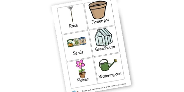 Garden Centre Bingo - Garden Centre Primary Resources, role play, plants, flower, growth
