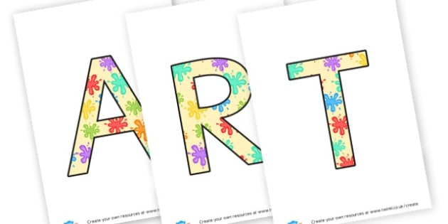 ART. - display lettering - Creative Area Primary Resources, sign, area, zones, banner, poster