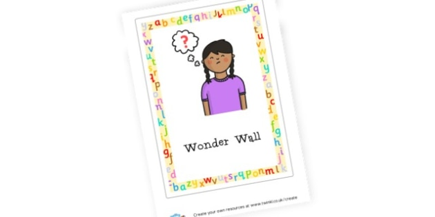 Wonder Wall Poster - General Literacy Primary Resources, Literacy, English, Display, EY