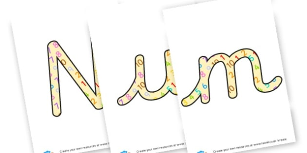 Numeracy - display lettering - Maths Area Primary Resources, maths is fun, signs, labels, areas