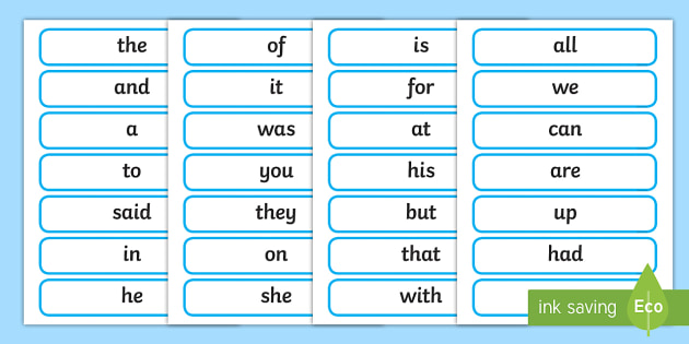 High Frequency Words Cards - High Frequency Words Primary Resources, Letters, sounds, phonics, frquency