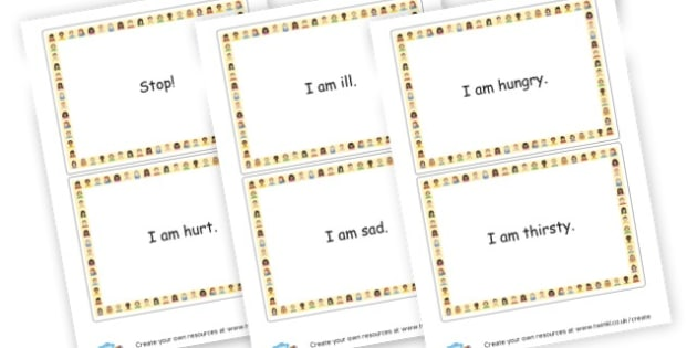 Survival Vocabulary Cards - My Emotions Labels Primary Resources, education, home school