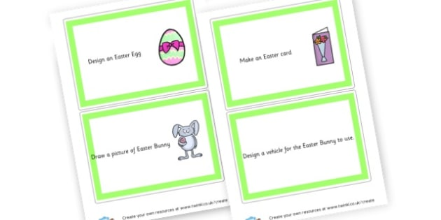 Easter Challenge Cards - Easter Activities Primary Resources, easter, activities, colouring