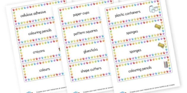 Art Label - Creative Area Primary Resources, sign, area, zones, banner, poster