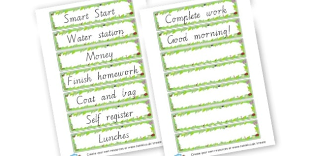Smart Start Checklist Labels - Classroom Signs & Label Primary Resources, labels, posters, rules