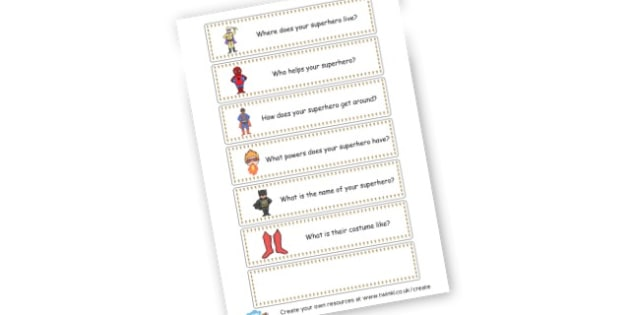 Superhero Questions - Superheroes Primary Resources, superhero, role play, visual aids