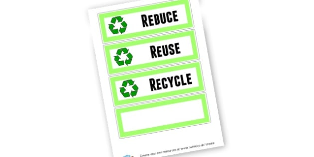 Reduce Reuse Recycle - Eco, Recycling & Environment Primary Resources, recycle, re-use,