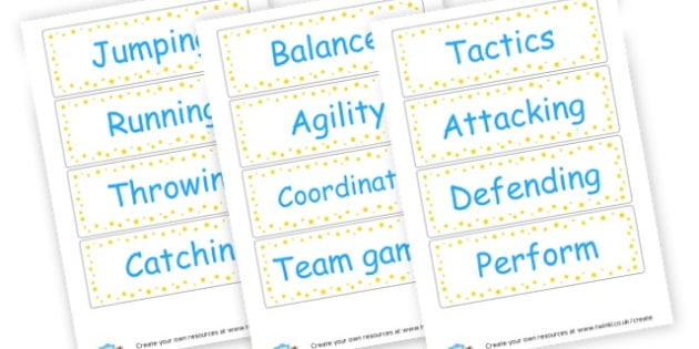 PE vocab - PE (Physical Education) Primary Resources, physical development