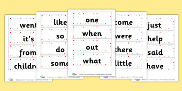 HFW Phase 4 - High Frequency Words Visual Aids Primary Resources, letters, frquency