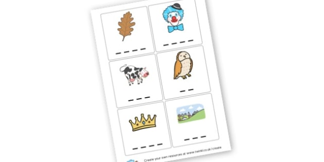 ow Picture Cards - Letters and Sounds Primary Resources, phonics, dfe, keywords, KS1