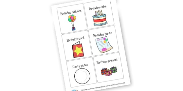 Birthday Labels - Birthdays, Display,  Primary Resources, birthday, party, happy, c