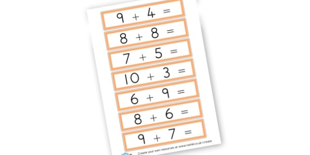 Adding Cards - Calculation Primary Resources, maths, add, subtract, calculation